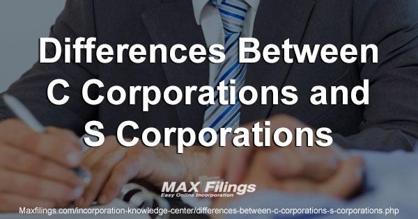 C Corporation Vs S Corporation Similarities Differences